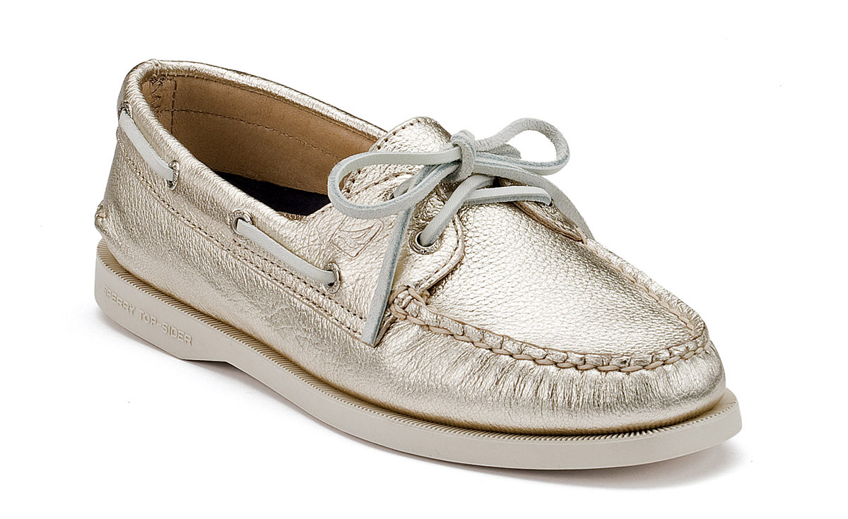 Women's Sperry Top-sider in PLATINUM GOLD :)
