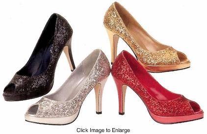 db4a808c083 Peep toe Glitter Pumps from MyDivasCloset.com  35