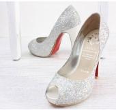 8a0ed2f9124 Designer Style Silver Peep Toe Glitter Pumps from JACCOFASHION.com  39.99