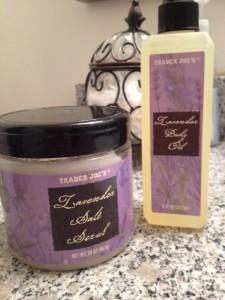 trader-joes-lavender, lavender-salt-scrub, lavender-oil-spray