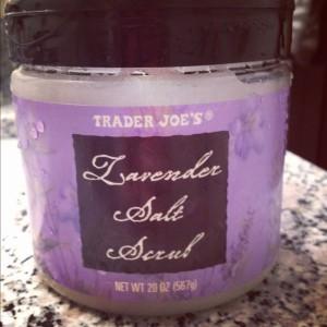 trader-joes-lavender-scrub, lavender-body-oil