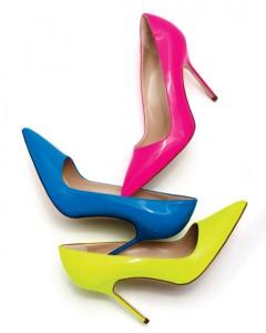 Manolo-Blahnik-pink-pump, neon-pink-pump